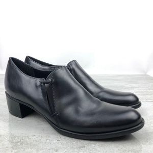 Munro Black Leather Heels